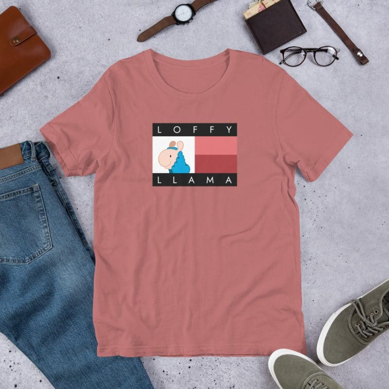 Classic Loffyllama T-shirt(Black & Mauve)