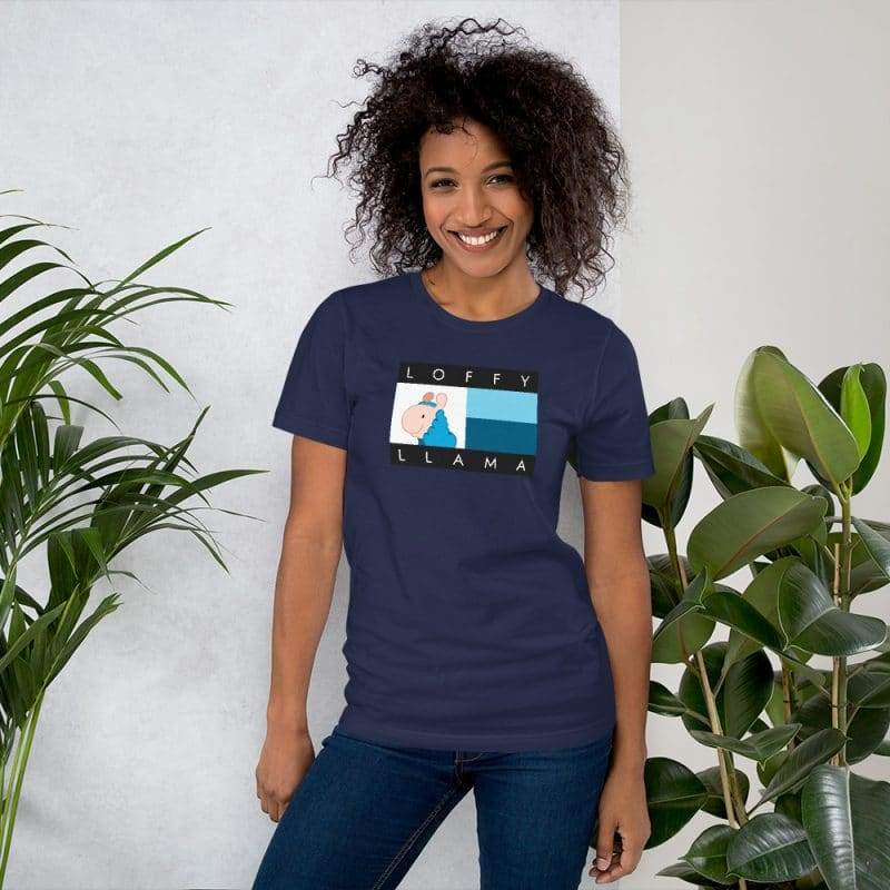 Classic Loffyllama Unisex T-shirt(Navy)